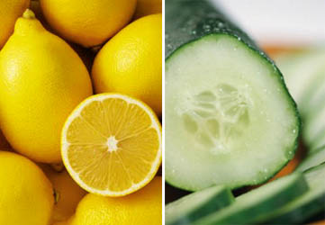 home remedies for common face problems - cucumber and lemon mask for oily face